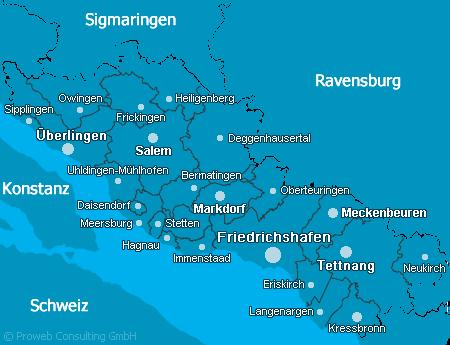 Kreis bodensee kreisgebiet bodensee for Bodensee karte